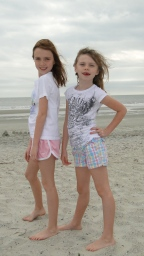 HILTON HEAD ISLAND, SC - Sisters at Coligny Beach. November 2010