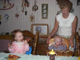 FALMOUTH, MA - Mandy's 1st Birthday with Sarah and Grammy. April 2004