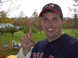 MIDDLEBURY, VT - The morning after and it's just starting to sink in. Celebrating the Red Sox World Series Win. October 2004