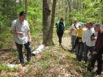 Peter Spiller leading a mushroom walk at Peterson Farm. (Photograph courtesy of The 300 Committee, Falmouth's Land Trust)